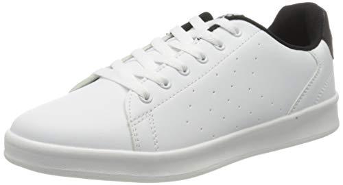 Hummel Unisex-Erwachsene BUSAN Sneaker, Weiß (White/Black 9124), 42 EU