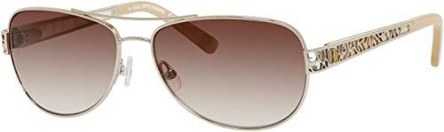 SAKS FIFTH AVENUE Sunglasses 81S 03Yg Light Gold 57MM