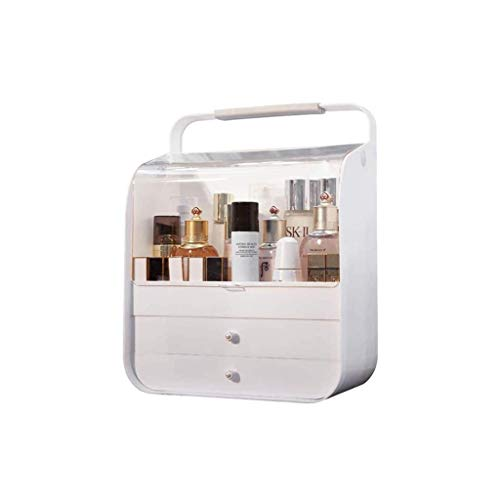 ADSE Makeup Organizer Box, Aufbewahrungsbox für Kosmetika mit Schubladen, Aufbewahrungsbox für Pinsel Paletten Lippenstifte