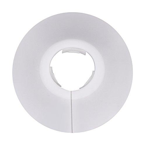 12 Piezas de Collar de Tubería Blanco para Tubo de Diámetro de 15 mm