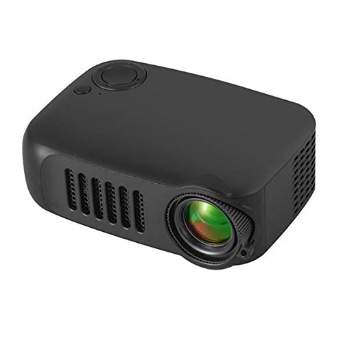 HD-Projector, Mini Video Projector Met Afstandsbediening, Home Theatre-Systeem Media Player, LED Micro Movie Projector Ondersteuning Power Bank, HDMI, USB En SD,Black
