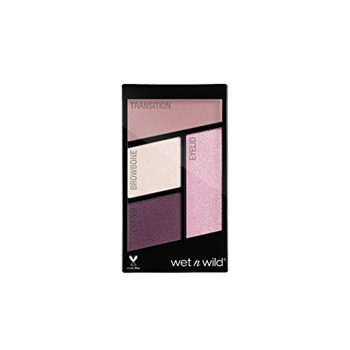 Wet n Wild - Color Icon Eyeshadow Quads - Palette Ombretti Piccola Makeup, con Mix di Finish Shimmer e Matte - Tenuta Estrema, Facile da Sfumare - Vegan - Petalette