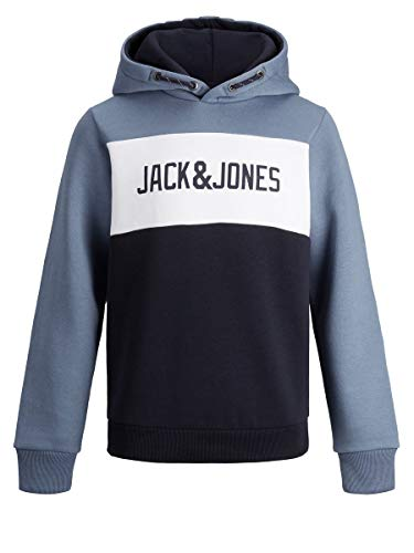 JACK & JONES Herren Hoodie Jungs Logo Sweat 140China Blue