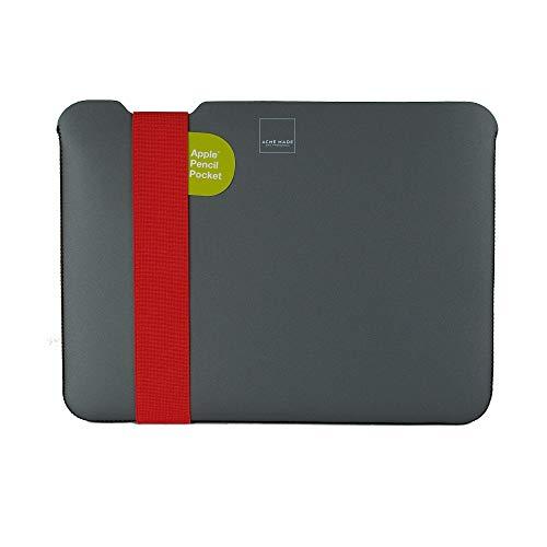 Acme Made Skinny Sleeve XS, dünne Neopren Schutzhülle für Tablets und Laptops, Notebookhülle mit 11-14 Zoll, passend für Microsoft Surface Pro, Samsung Chromebook & viele mehr, grau/orange