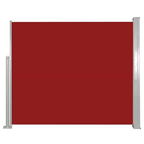 vidaXL Seitenmarkise 120x300cm Rot Sichtschutz Windschutz Sonnenschutz Markise