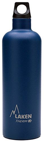 Laken Futura Botella Termica Acero Inoxidable 18/8 y Doble Pared de Vacio, Unisex adulto, Azul, 750 ml