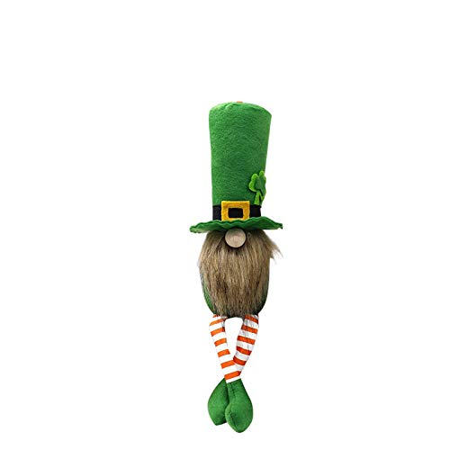 Zewuai 1Pcs St. Patrick'S Day Spring Gift Room Plush Faceless Doll Decorations Present Plush Figure Toys Collectible Figurines Gnome Decorations