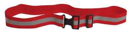 Reflective Elastic Belt w/Buckle Closure (Red)