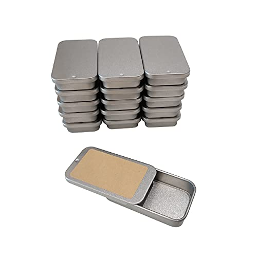 Cubic Ape Slide Top Tin Containers for Cosmetics, Lip Balm - Travel Storage - Small - 0.5 oz. (Pack of 16)