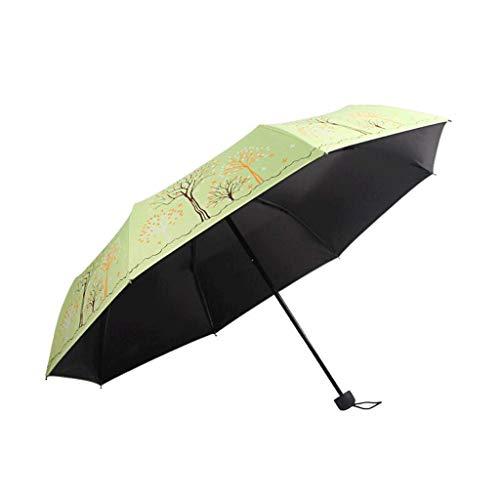 HQQSC Paraguas Soleado Hembra Plegable de Dos usos Sol Paraguas Solar Paraguas Anti-Ultravioleta pequeño Fresco y luz Paraguas
