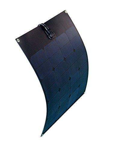 enjoysolar® Panneau solaire flexible 50 W 12 V Idéal pour caravane, bateau, yacht Full Black Edition