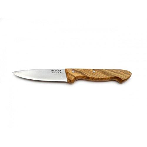 Cuchillo de Cocina PALLARES, Mango de Olivo, Acero Carbono, 10cm.