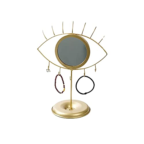 Chytaii Soporte Expositor de Joyas Estante de Almacenamiento de Joyas Ajustable Organizador Colgante con Espejo para Pendientes Brazaletes Pulseras Diademas Accesorios
