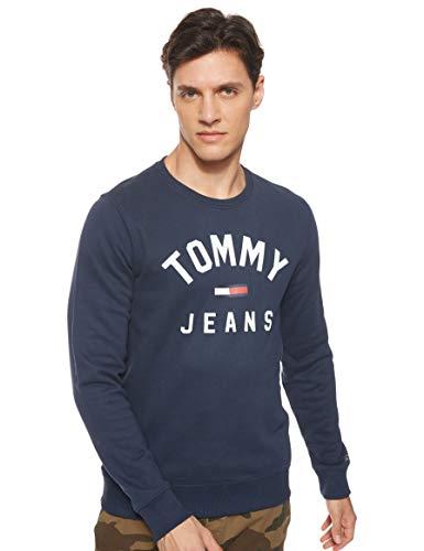 Tommy Jeans Herren TJM Essential Flag Crew Sweatshirt, Blau (Black Iris Cbk), Small (Herstellergröße:S)