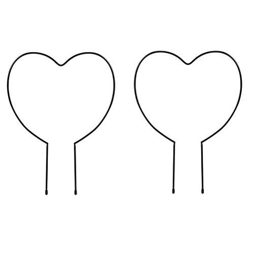 Akemaio Enrejado de jardín de Hierro Negro de 2 uds para Plantas trepadoras, Soporte de Metal para Plantas de Vid, Soporte Decorativo para Plantas en macetas, Soporte para Escalada