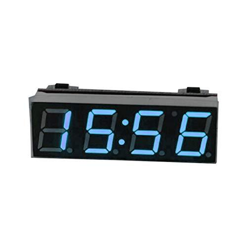 A0127 Auto Digital Tube Elektronische Uhr LED 3-in-1-Zeit + Temperatur + Spannung Eine Basisversion Der Elektronischen Uhr Mit Mikrocontroller