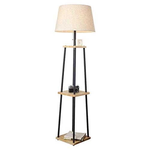 FLZ Stehlampe Stehlampe Zugschalter mit Regal, moderne Beleuchtungslampe für Wohnzimmer Schlafzimmer Arbeitszimmer,Schalter + Fernbedienung ziehen