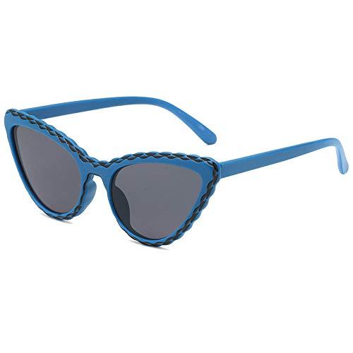 DLSM Mode Cat Eye Sonnenbrille weibliche Flut rundes Gesicht Super Feuer Bonbon Farbe Sonnenbrille Persönlichkeit Strand Sonnenbrille-C3