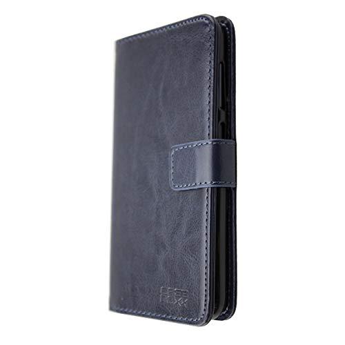 caseroxx Tasche für Gigaset GS185 Bookstyle-Hülle in blau (Bookstyle- Hülle mit & ohne Bildschirmschutz) (Bookstyle- Tasche, blau)