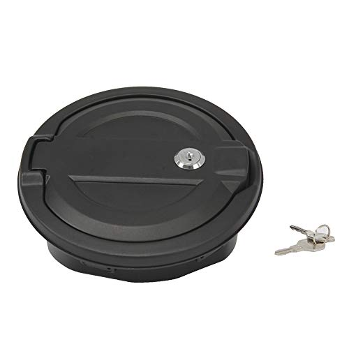 GZYF Car Auto Fuel Tank Cover Gas Lid Filler Cap with Lock & Key Compatible with Jeep Wrangler JL 2018-2019