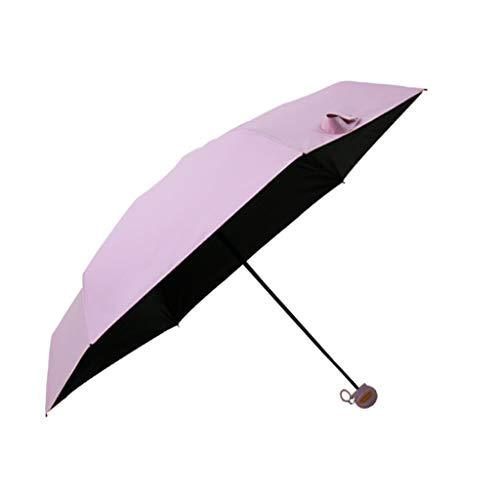 ZhuFengshop Paraplu, karikatuur-greep-zakparaplu, afstotende paraplu-zonwering, met zwarte lijm, anti-uv-coating, reisparaplu, uv-blokkerend, draagbaar, regendicht, enz, son