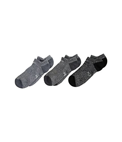Nike Little Kids' Dri-FIT Cushioned No-Show Socks 3 Pack (Marled Black(RN0014-023)/Grey, 4-5(7C-10C))