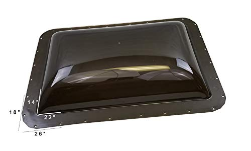 Class A Customs Premium Heavy Duty RV Camper Trailer Exterior Skylight - 18 x 26 OD / 14 x 22 ID Smoke (Tinted)