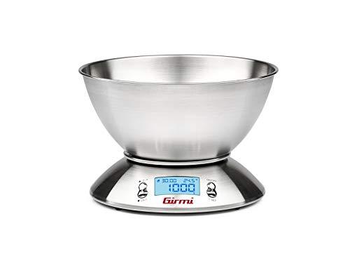 Girmi PS85 Bilancia Cucina Elettronica Ciotola Acciaio, eléctrica, vetro