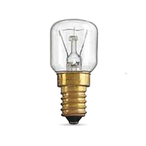 LAMPADINA PER FORNO 25W ATTACCO PICCOLO E14 RESISTE A 300° GRADI