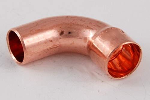 Kupferfitting Bogen 10 mm / 90 Grad / 5001a i/a (VE 5 Stk), copper fitting, zum Löten, Rohrverbinder