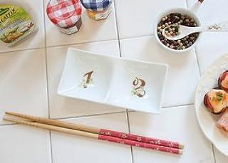 マニー ノンブル 陶器 2つ仕切りプレート