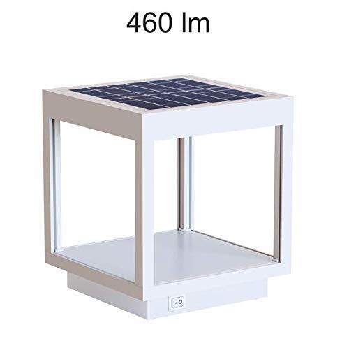 Lámpara LED solar para exterior/jardín, farol, lámpara de mesa con batería Beneito Faure VISOR solar de aluminio 3,5 W 120°, color blanco