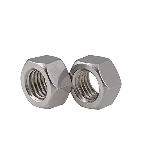 LUOHAIMEI Locknuts 500pcs / Lot Rosca métrica DIN934 M2.5 304 de Acero Inoxidable Tuerca Hexagonal Hexagonal Tuerca de Tornillo Tuerca A2-70