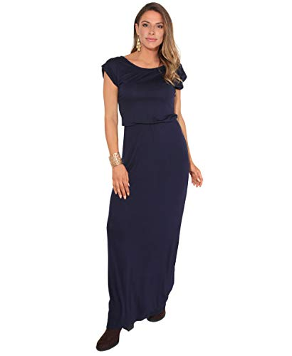 KRISP 3269-NVY-10 Damen Leichtes Kleid (Marineblau, Gr.38)
