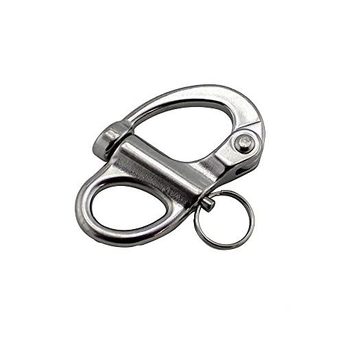 Grillete a presión fijo de acero inoxidable 316 35 mm 52 mm 69 mm 96 mm Herrajes marinos Grillete a presión de liberación rápida-96 mm
