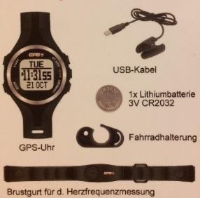GPS-Uhr mit Herzfrequenzmessung, Kompass, PC-Download, Pulsuhr/NEU!