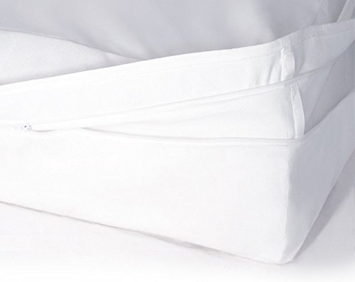 Softsan Protect Plus Matratzenbezug für Topper milbendicht 180x200x8 cm, Höhe 8 cm, Encasing, Milbenschutz für Hausstauballergiker milbenkotdicht