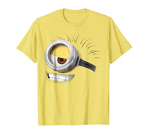 Despicable Me Minions Carl Smirk Face Graphic T-Shirt
