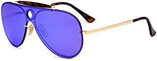 Sunglasses Fashion Accessories Integrated Beam Classic Style Personality Style Sunglasses UV Protection (Color : Blue)