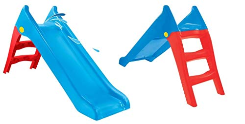Woopie Columpio para niños, jardín exterior, juguetes para niños para los más pequeños, tobogán grande para actividades de juguetes para niños pequeños, tobogán independiente para niños (azul 140 cm)