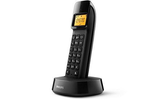 Philips D1401B/34 Telefon DECT-Telefon Schwarz Anrufer-Identifikation - Telefone (DECT-Telefon, Kabelloses Mobilteil, 50 Eintragungen, Anrufer-Identifikation, Schwarz)