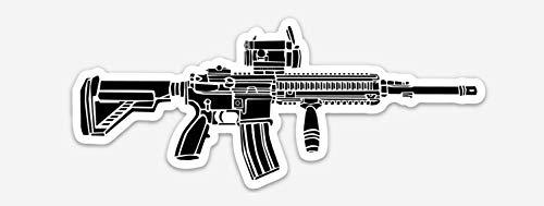 KillerBeeMoto: Vinyl Sticker of HK416 Carbine Hand Drawn Illustration -  Killer Bee Moto