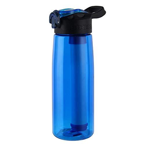 Ahomi Outdoor Sport Purifier Water Filter Cup Overleving Tool Drinkwater Fles Eén maat Blauw