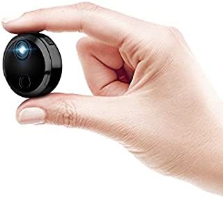 كاميرا المراقبة الامنية اللاسلكية المخفية صغيرة الحجم والمحمولة وتعمل بشبكة واي فاي مع تحكم عبر الويب وبدقة تصوير اتش دي 1...