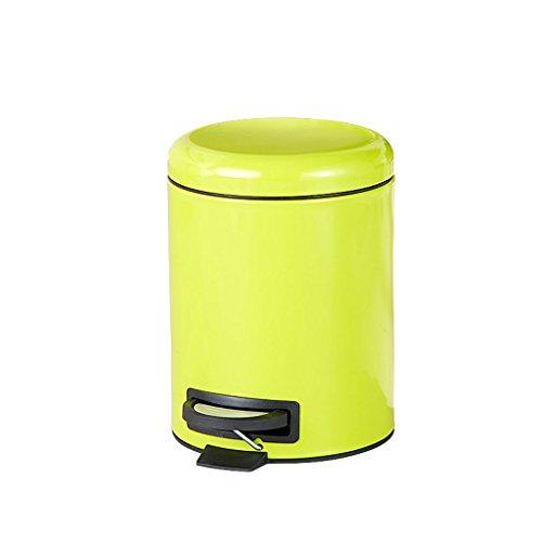 PRIDE Roestvrij staal pedaal prullenbak thuis creatieve keuken woonkamer badkamer groot mute met deksel (Color : Green)