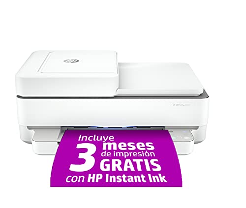HP Envy 6420 - Impresora multifunción tinta, color, Wi-Fi, Bluetooth 5.0, compatible con Instant...