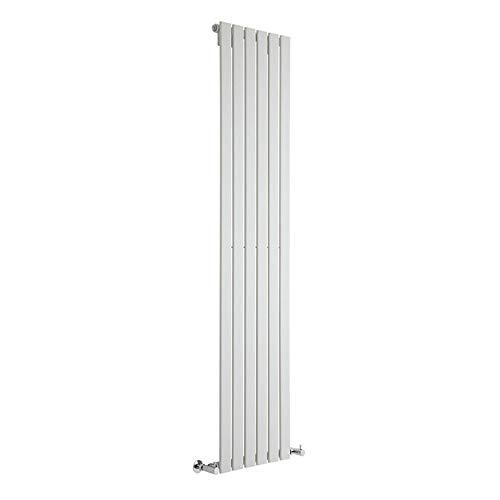 Hudson Reed Radiador de Diseño Moderno Vertical Delta - Radiador con Acabado Blanco - Paneles Planos - 1800 x 420mm - 987W - Calefacción de Lujo