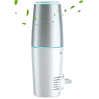 HomeZens Portable Plug in Air Purifier for Viruses and Bacteria UV-C Light Sanitizer Eliminate and Sanitize Germs & Odor Keep Air Clean for Bedroom Kitchen Bathroom Pet Area Small Rooms