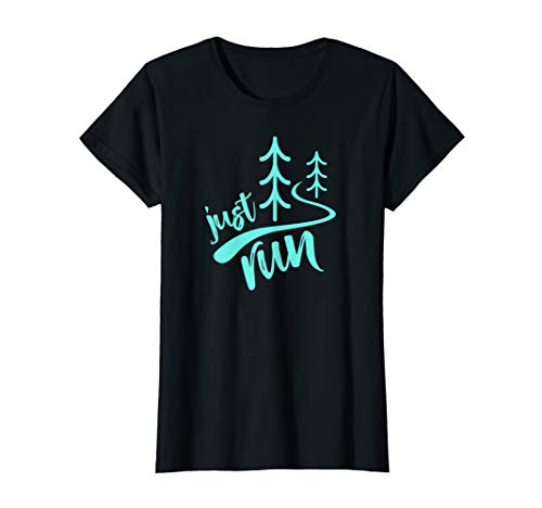 Womens Just Run Trail Running Cross Country XC Runners T-Shirt