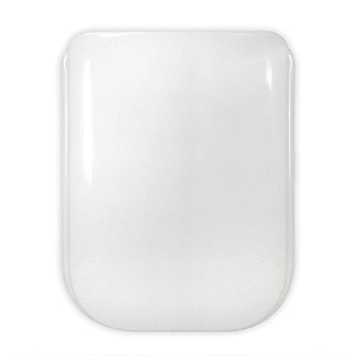 TAPA WC COMPATIBLE | GALA 2000 GALA | TONCA - CONCA - PIERRE CARDIN IDEAL STANDARD | ASIENTO INODORO | BISAGRA ACERO INOX | FÁCIL INSTALACIÓN Y LIMIEZA | MUY RESISTENTE | BLANCO | 44 x 34 x 4 cm